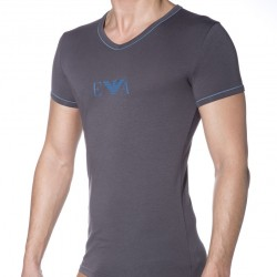 T-Shirt Fashion Stretch Cotton Gris Emporio Armani