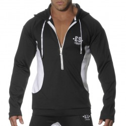 Veste Casual Hoody Noir - Blanc ES Collection