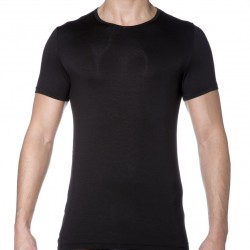 T-Shirt Soft Silk Noir HOM