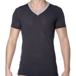 T-Shirt Black Addict Mesh Noir HOM