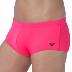 Shorty de Bain Embroidery Basic Lycra Rouge Fluo Emporio Armani