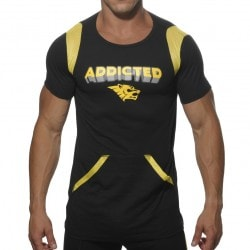 T-Shirt Lounge Manches Courtes Noir Addicted