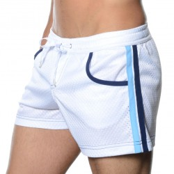 Short de Bain Sports Mesh Blanc Andrew Christian