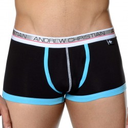 Shorty Show-It Low Profile Noir - Turquoise Andrew Christian