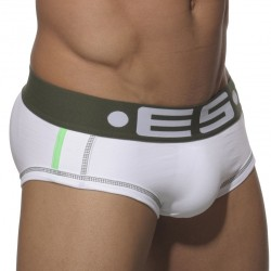 Slip Wonderbrief 2.0 Blanc - Kaki ES Collection