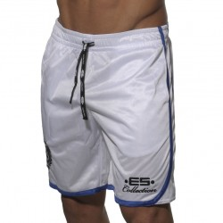 Bermuda Basket Ball Blanc ES Collection