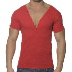 T-Shirt Button Down Slim Fit Rouge ES Collection