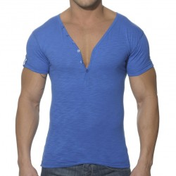T-Shirt Button Down Slim Fit Royal ES Collection
