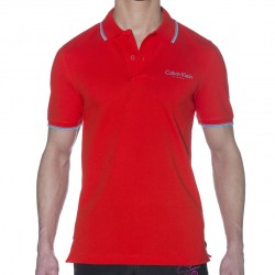 T-Shirt Polo Core Rouge Calvin Klein