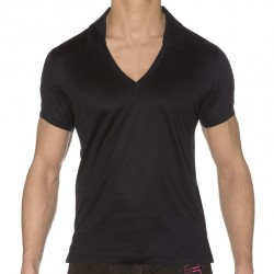 T-Shirt Polo Luxe Covers Up Noir Calvin Klein
