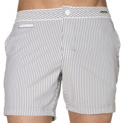 Short de Bain Luxe Seared Stripe Bleu Calvin Klein