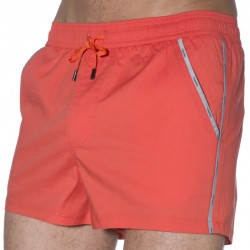 Short de Bain Taormina Orange Nero Perla