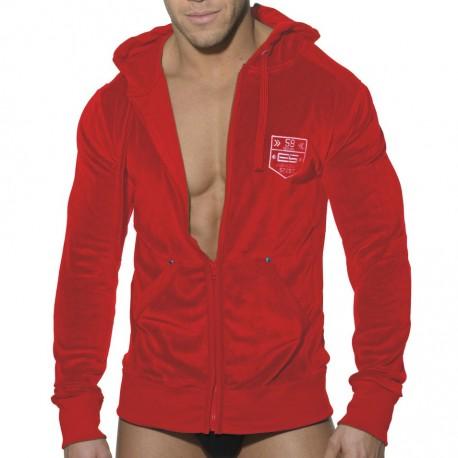 Velvet Sports Jacket - Red