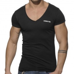 T-Shirt Basic V-Neck Noir Addicted