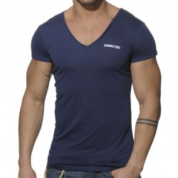 T-Shirt Basic V-Neck Marine Addicted