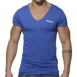 T-Shirt Basic V-Neck Royal Addicted