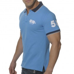 T-Shirt Polo Slim Fit Bleu ES Collection