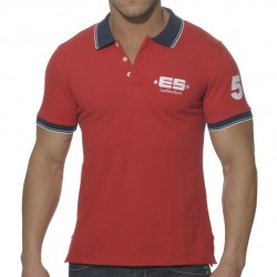T-Shirt Polo Slim Fit Rouge ES Collection