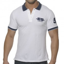 T-Shirt Polo Slim Fit Blanc ES Collection