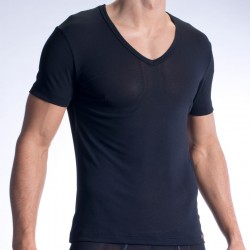 T-Shirt V-Neck RED 1313 Noir Olaf Benz
