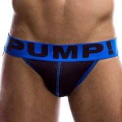 Jock Strap Panther Noir - Bleu Pump!