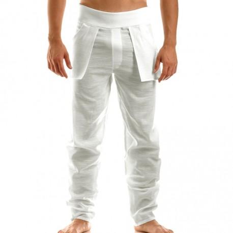 Pantalon Linen Blanc