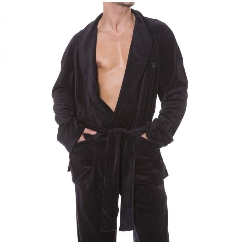 Veste d 39 int rieur velours noir emporio armani for Peignoir interieur homme