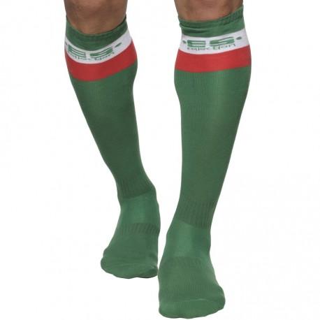 Long Sports Socks - Green