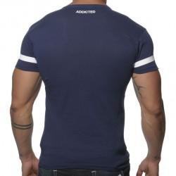T-Shirt V-Neck 69 Marine Addicted