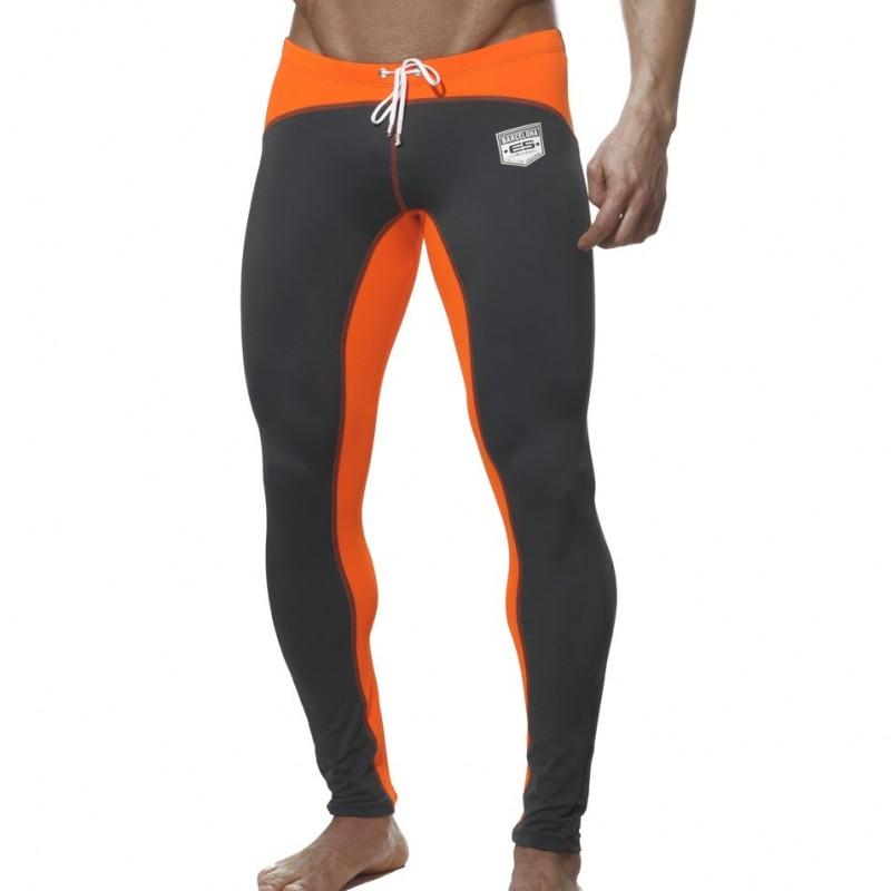 pantalon running gris orange es collection. Black Bedroom Furniture Sets. Home Design Ideas
