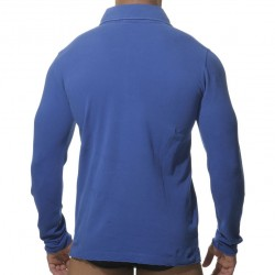 Polo Washed Manches Longues Royal ES Collection