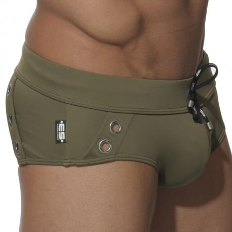 Hanalei Bay Swim Brief - Khaki