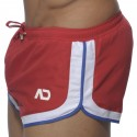 Three Tone Swim Short - Red