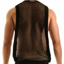 French Croisé Tank Top - Black