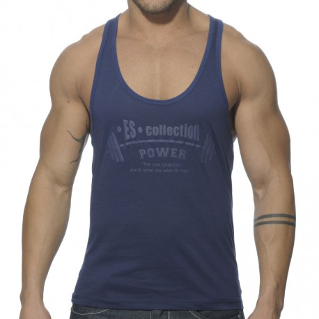 Power Gym Low Rider Tank - Navy