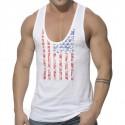 American Flag Tank top - White