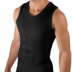 Débardeur Six Pack Compression Noir Papi