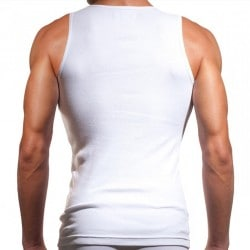 Débardeur Six Pack Compression Blanc Papi