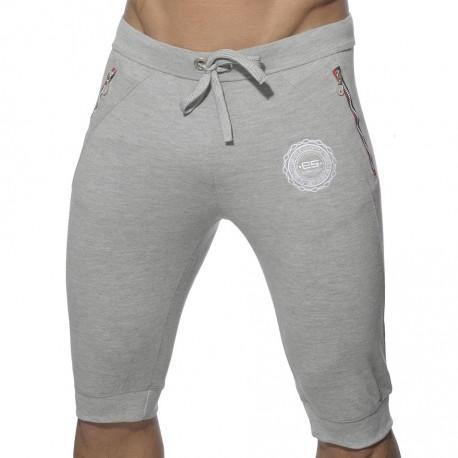 Pique Knee Length Pants - Grey