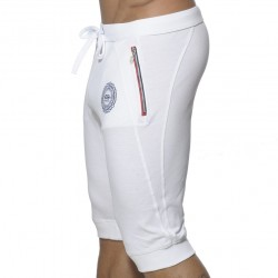 Pantalon Court Pique Blanc ES Collection