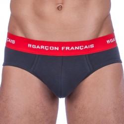 Slip Le Tombeur Anthracite Garçon Français
