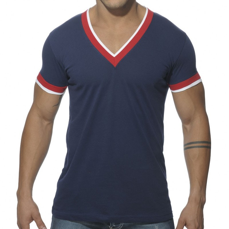 ES Collection V-Neck Double Binding T-Shirt