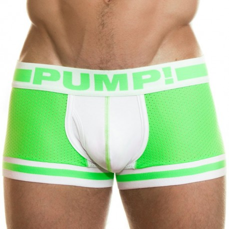 Microshock Boxer - Lime - White
