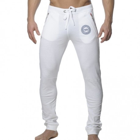 Pique Sweat Pants - White