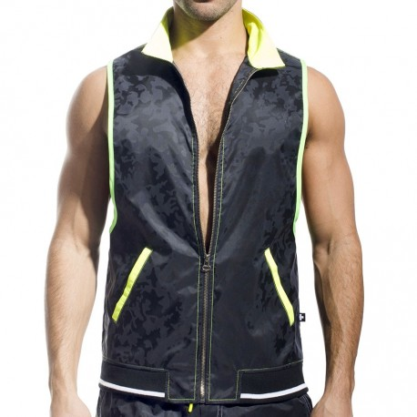 Stealth Sleeveless Vest - Black Camouflage