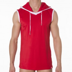 Beach Hood Tank - Red Pump!