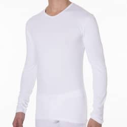 Lot de 2 T-Shirts Manches Longues Dry & Cool Blancs DIM