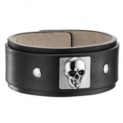 Bracelet Proton Skull  Noir Police