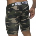 Mid Thigh Biker Short - Army