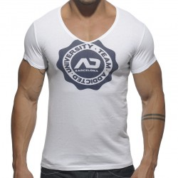 T-shirt Stamp Blanc Addicted